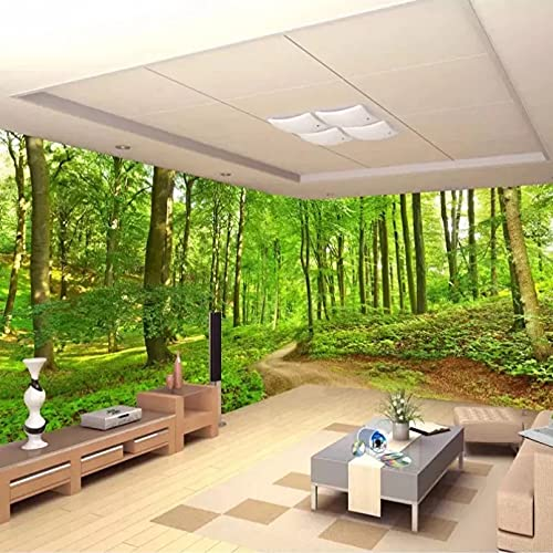 Papel tapiz fotográfico personalizado en 3D, papel tapiz de pared con camino de árbol forestal, papel tapiz para sala de estar, dormitorio, decoración del hogar 400x280cm