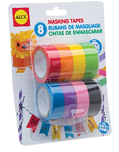 ALEX Toys Artist Studio 8 Masking Tapes , Colors May Vary
