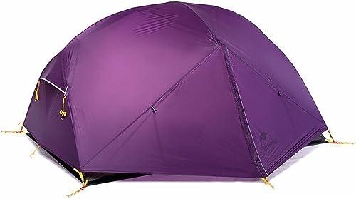 2 Personnes Tente Double Couche Rainstorms Three Seasons Aluminium Rods Outdoor Camping Escalade 210  135  100cm