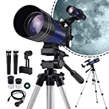 BNISE 150X Telescope for Kids Beginners, Astronomy Refractor Monocular Telescopes, HD Glass Optics