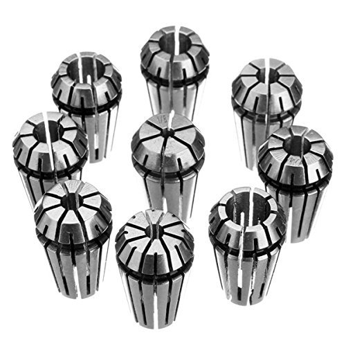 Review Of ZH-Wang Lathe Accessories 9Pcs Er16 1/8 to 3/8 Inch Spring Collet Chuck Collet for CNC Mil...
