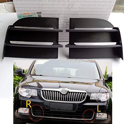BLH-AMY Nebelscheinwerfergitter Fit for Skoda Superb 2009-2013 Front Lower Grille Auto Vent-Nebel-Lampen-Licht-Abdeckung Rahmen, Auto Nebelscheinwerfer Nebelscheinwerfer Gitter (Color : Left Side Lh)