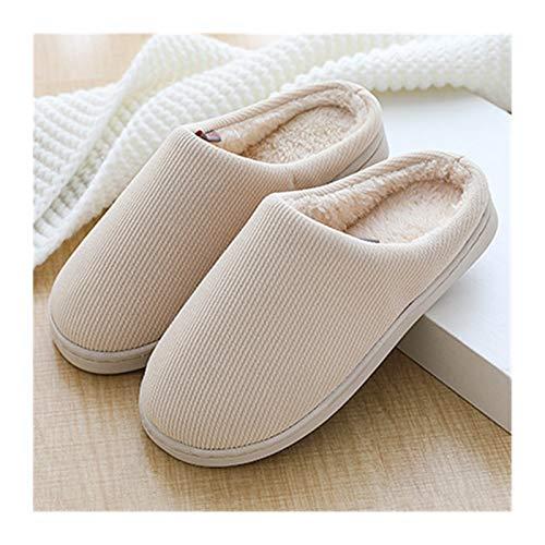 YLJY Zapatillas de algodón de Felpa Zapatos de algodón Casa Hermosa Otoño e Invierno Inicio Interior con Pareja cálida Peluche Home Alojamiento Antideslizante Mes de Fondo Grueso