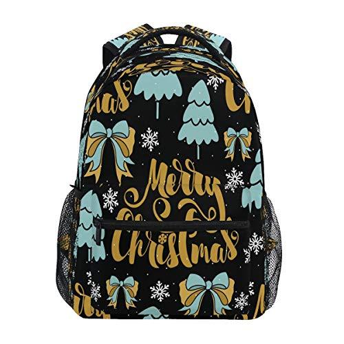 Alberi Fiocchi Di Neve Di Natale Zaino per Bambini Studente Scolastico Zaino da Bookbag Borsa Del Libro per Viaggio Teenager Ragazze Ragazzi Capretto