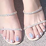 Sethexy Uñas de dedo del pie falso blanco perla Uñas del dedo del pie de la cubierta completa del espejo Uñas postizas falsas para mujeres y niñas