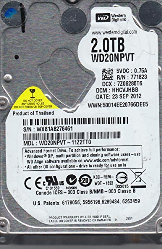 WD20NPVT-11Z2TT0, DCM HHCVJHBB, Western Digital 2TB SATA 2.5 Festplatte