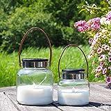 Gadgy Solarlaterne Für Außen | 2 Stuck Solarlampen Deko | Dekoration Modern | Perfect geschenk Für Mütter