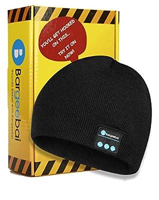 Bargeebai Unisex Beanie Hat Bluetooth Wirless Upgraded Loud Stereo Speaker Unique Awesome Cute Fall Winter Birthday Tech Gifts Under 20 Teen Boy Man Woman Girl Knit Skull Cap (Black) by Bargeebai