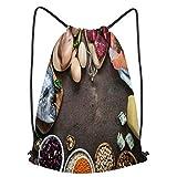 Beutel mit Kordelzug -- Dieser Sack ist aus Polyestergewebe hergestellt, die lange Haltbarkeit bei täglichen Aktivitäten bieten. Leicht waschbar, Langlebig und leicht, faltbar und kompakt, ohne Platz zu beanspruchen, leicht zu tragen und praktisch. K...