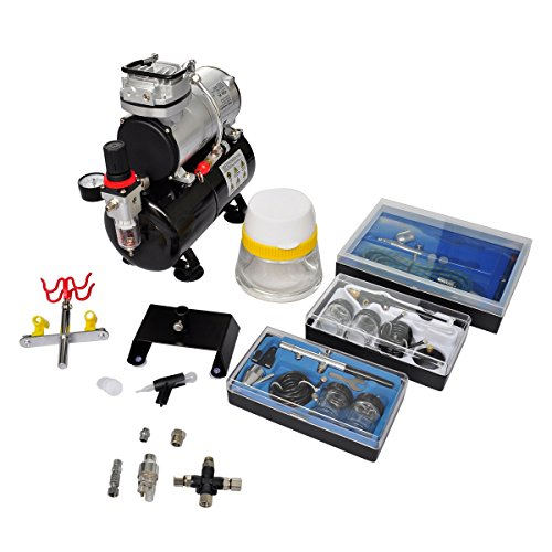 VidaXL 140284 Airbrush Kompressor Komplett-Set mit 3 Stück