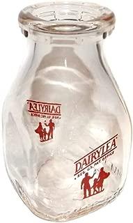 Vintage Dairylea Half Pint Square Glass ACL Dairy Farm Milk Bottle