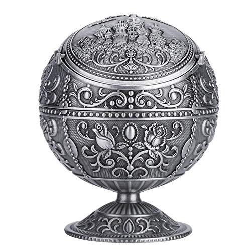 【𝐎𝐟𝐞𝐫𝐭𝐚𝐬 𝐝𝐞 𝐁𝐥𝐚𝐜𝐤 𝐅𝐫𝐢𝐝𝐚𝒚】 Cenicero de Bola Redonda, Metal Vintage Exquisito Elegante Atractivo Personalizado para decoración de Regalo(#2)