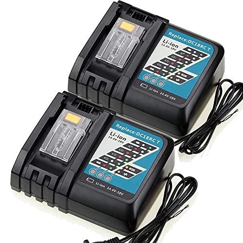 DC18RCT Cargador de reemplazo para Makita 14. 4V-18V Batería de Iones de Litio BL1815 BL1830 BL1840 BL1845 BL1850 BL1860 Cargador de baterías, Batería, YLLLLY-6686