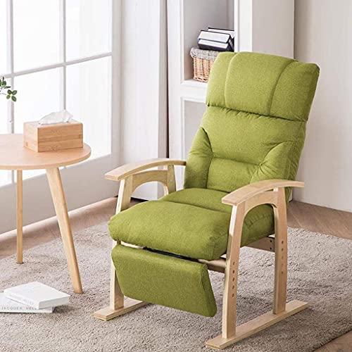 RSTJ Silla de comedor, respaldo, tocador, armario, silla de computadora, silla de belleza, dormitorio, sala de estar, balcón, sofá de ocio (color verde - lino)