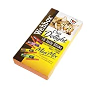 Webbox Cats Delight Mini Mix Assorted Sticks 16 Sticks, Deal of 4