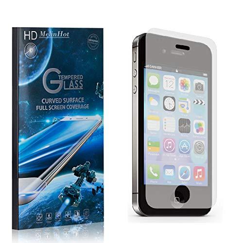 MelinHot Displayschutzfolie für iPhone 4S / iPhone 4, 99% Transparenz Schutzfilm aus Gehärtetem Glas, 9H Härte, Keine Luftblasen, 3D Touch, 4 Stück