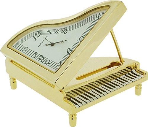 Gold-Klavier-Miniaturuhr von Gift Time Products