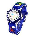 Montre Garçon Pédagogique Enfant avec 3D Bracelet en Caoutchouc Motif Quartz Cadran...