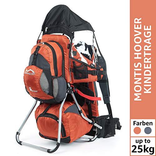 MONTIS HOOVER, Zaino porta bimbo premium, fino a 25kg, arancione