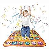 aPerfectLife Kids Musical Mats - Dance Floor Mat Carpet Kids Electronic Interactive Alphabet Wall Chart Touch Playmat Best Educational Toys for Baby Toddler Girls Boys (34 x 30 in)