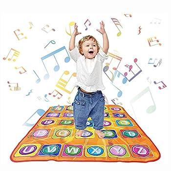 aPerfectLife Kids Musical Mats - Dance Floor Mat Carpet Kids Electronic Interactive Alphabet Wall Chart Touch Playmat Best Educational Toys for Baby Toddler Girls Boys  34 x 30 in