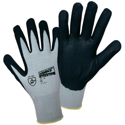 Worky 1158Foam Polyamid Nitril Handschuh feinmaschiges GR.10100% Polyamid mit nitrile-rivestimento Größe 10