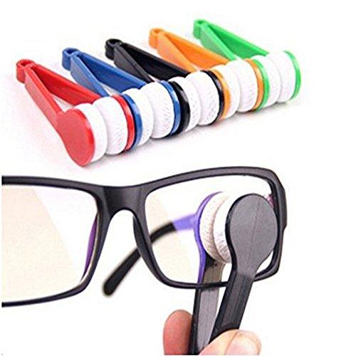 Lunettes en forme de lunettes de soleil en microfibre Mini Lunettes Cleaner Lunettes Cleaner Brosse souple Outil de...
