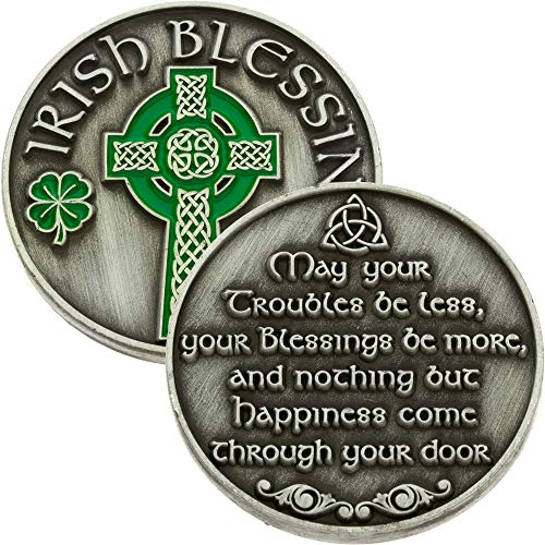 Irish Blessing Coin with Celtic Cross (Pkg of 4) St. Patrick Day