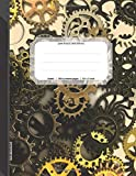 300 Page Journal: 300 Page Dotted Journal, Notebook Extra Large, Dotted Notebook 8.5 x 11, (21.59 x 27.94 cm), Dot Journal Numbered Pages, Draw Write Journal, Cogs in the Wheel, Soft Covered Journal