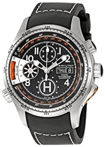 Hamilton Men's H76616333 Aviation X-Copter Black Day Date Dial Watch image