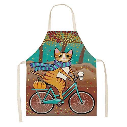 Elibeauty Schürze, Cartoon Katze Multifunktionale Küchenschürze Kreative Koch Kochschürze Schürzen für Männer, Schürzen für Frauen (#3)