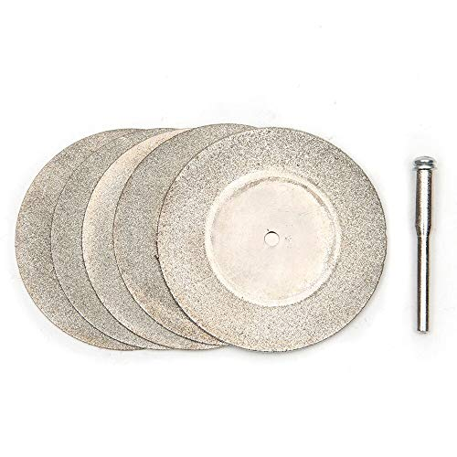 ABST01690 Abrasive 5Pcs/Lot 50mm Diamond Cutting Discs & Drill Bit for Rotary Tool for Dremel Stone Blade