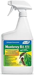 Monterey LG 6338 Bacillus Thuringiensis (B.t.) Worm & Caterpillar Killer Ready to Use Insecticide/Pesticide Treatment Spray, 32 oz
