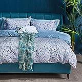 MILDLY エジプト超長綿100% 布団カバー 4点セット シングル :掛布団カバー ボックスシーツ 枕カバー*2 / 肌ざわりが良い 通気性に富んで 毎日の快眠で元気に過ごしたい方に(シングル・Akkad)