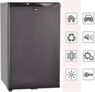 Smad 12V/110V Portable Single Door Mini Fridge With Lock,1.7 cu ft