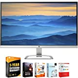 HP T3M88AA#ABA 27er 27-Inch 16:9 IPS LED Backlit 1920 x 1080 Monitor, Silver Bundle with Elite Suite 18 Standard Editing Software Bundle and 1 Year Extended Warranty