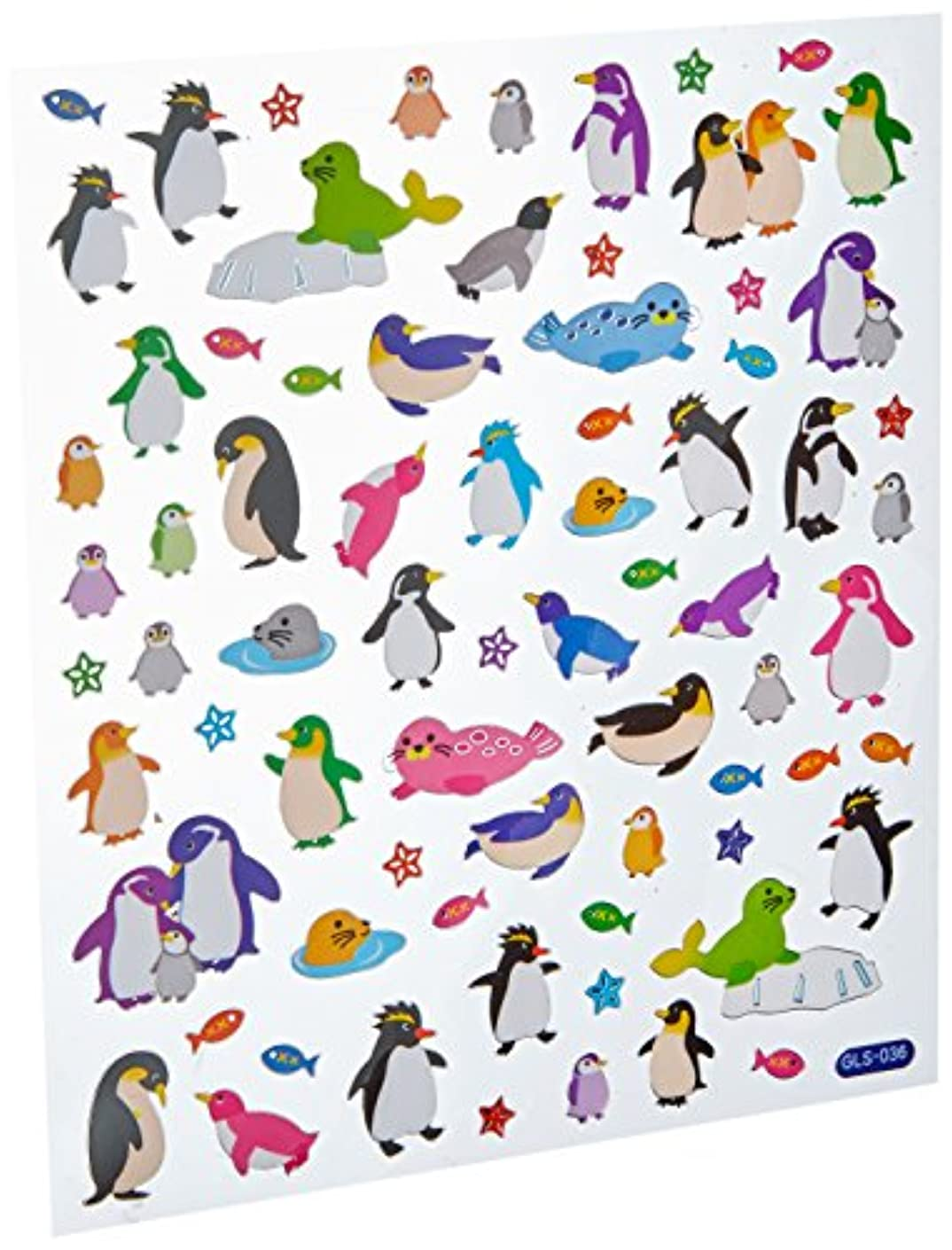 Tattoo King SK-4306 Multicolored Stickers-Penguins