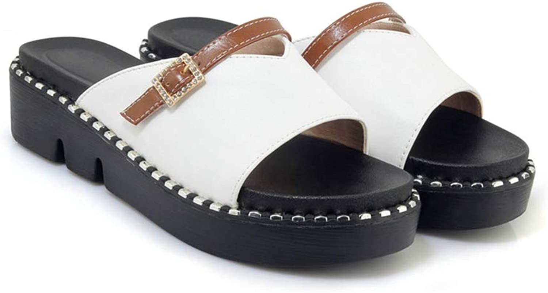 Zarbrina Women Platform Wedge Sandals Bohemian Slip on Slides Low High Heel Footwear Girls Gladiator Summer Casual Wear
