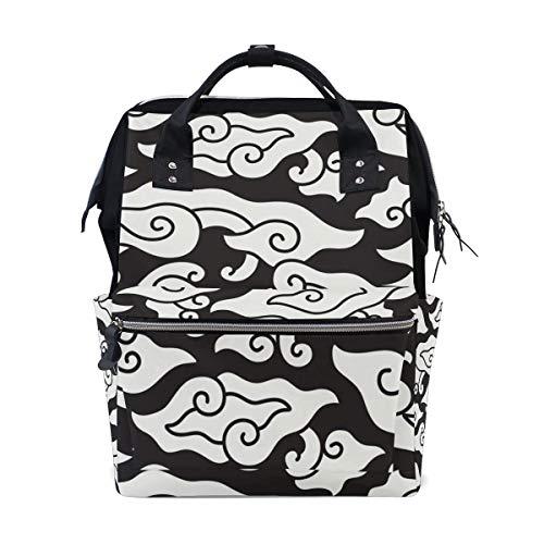 Bebé Cambio de pañales Bolsos cambiadores Mochi Colorful Leopard Texture School Backpack Large Cap