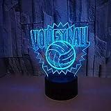 Voleibol Touch Led Nightlight Colorido 3D Lámpara Novedad Luminaria USB Led 3D Accesorios de luz Lámpara para niños