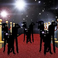 Image: 6 Pack Paparazzi Props and 6 Pack Closet Push Light Battery Operated Touch Lights with 1 Roll Clear Tape for Hollywood Red Carpet Awards Ceremony Party Theme Supplies and Decoration | Brand: Gejoy