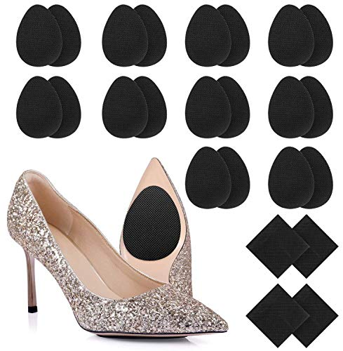 12 Pairs Non-Slip Shoe Pads Adhesive Anti-Slip Stick Pad for Shoes High Heels, Hommie Upgraded DIY Skid-Proof Sole Protector Replacement