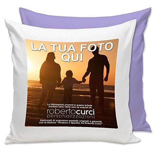 Cuscino Personalizzato con Foto - Quadrato 40 x 40 cm - Glicine, 40x40 cm - con Imbottitura