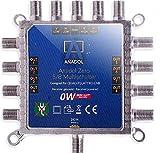 Anadol Zero Watt 5/8 - ECO - Multiswitch senza corrente, per 8 utenti - Basso consumo di corrente - multiswitch 0 watt in stand-by [digitale, HDTV, FullHD, 4K, UHD]