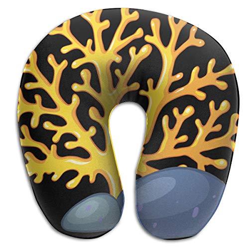 Almohada en Forma de U, Cuello, árbol de Coral, Viaje, Almohada Multifuncional, Coche, avión