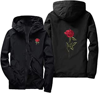 Valentine's Day Men's Autumn Casual Sports Zipper Solid Color Jacket Top Hoodie Jacket