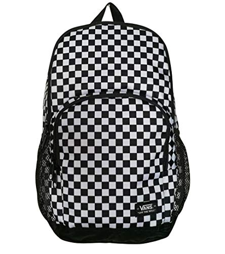 Vans Off The Wall Alumni Pack 3 Backpack School Student Laptop Bag (Black/White Checkers)