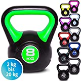 C.P.Sports - Kettlebell in Vinile, Peso a Mano, 2 kg, 3 kg, 4 kg, 6 kg, 8 kg, 10 kg, 12 kg, 14 kg,...