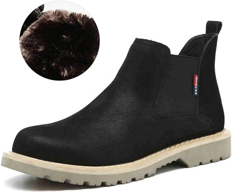 QIDI Martin Boots Men England Snow Desert Keep Warm Booties (color   T-2, Size   US8 EU39 UK6)