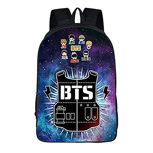 Kpop BTS GOT7 Mochila escolar Bangtan Boys Messenger Bag (BTS 11, talla única)